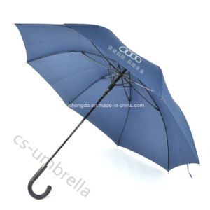 "23"" Black Fiberglass Pongee Fabric Advertising Umbrella for Promotion (YSS0123) pictures & photos"