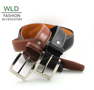 Classic and Basic Man Belt with Split Leather Linning M405 pictures & photos