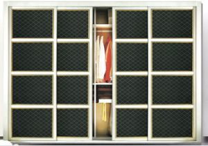 PU Leather Sliding Door for Wardrobe #2444-2 pictures & photos