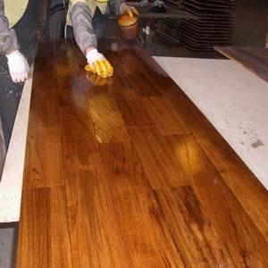 Golden Color Burmateak Solid Wooden Flooring (BT-I) pictures & photos