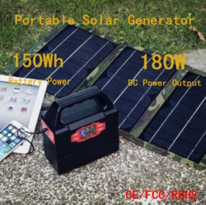 150wh Multifunction Solar Power System Battery Solar Generator for Home Emergency pictures & photos