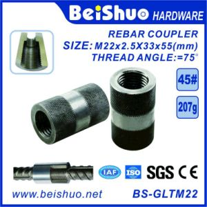 M22-L55mm Building Construction Rebar Coupler with Straight Screw Sleeve pictures & photos