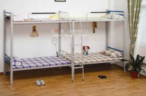 China Dormitory Furniture Metal Bedroom Bunk Bed with Stairs for Sale pictures & photos