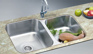 Double Bowl Kitchen Sink (XS-PS80434)