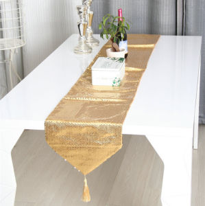 Sequin Embroidery Table Runner Embroidery Decorative Table Flag (JTR-33) pictures & photos