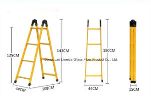 Multi-Function FRP Folding Ladder Household Ladder, Safety Ladder