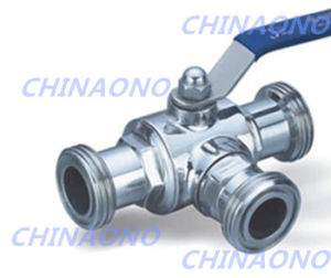 Ss304 316 Sanitary Stainless Steel Three Way Thread Ball Valve pictures & photos