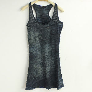 Fashion Ladies Summer Sleevelss Vest Dress (LD-059)