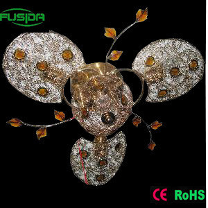 Fan Light and Crystal Chandelier Lighting (X-9281/3+1) pictures & photos