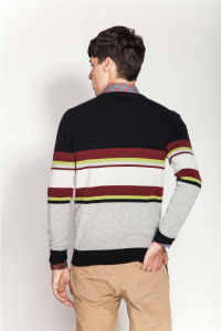 100%Cashmere Winter Stiped Knitting Men Jumper Sweater pictures & photos