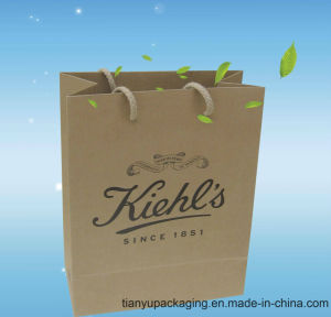 Recyclable Paper Carrier Bag White Craft with Rope Handle pictures & photos