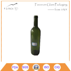 750ml Glass Wine Bottle for Red Wine Packing pictures & photos