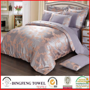 Fashion Poly-Cotton Jacquard Bedding Set Df-C160 pictures & photos