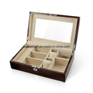 Elegant Spacious High Gloss Rosewood Jewelry Gift Box Watch Box pictures & photos