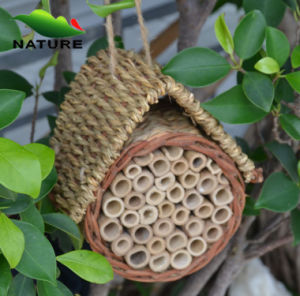 Garden Hanging Decorative Bamboo Wood Insect House, Bee House