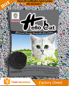 2016 0.5mm-4mm Hot Sale Bentonite Charcoal Cat Litter Disposal High Quality and Clumping pictures & photos