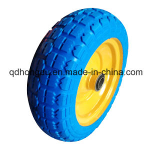 Solid Rubber PU Foam Wheel pictures & photos