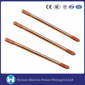 "3/8′′ 1/2′′ 5/8′′, 3/4""Copper Clad Ground Rod Earth Rod pictures & photos"