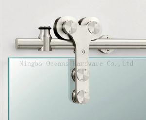Glass Sliding Barn Door Hardware (DM-SDG 7008) pictures & photos