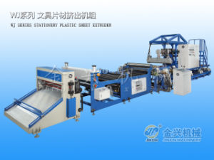 Wj110-1400 Plastic PP Stationary Sheet Machine pictures & photos