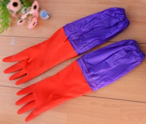 Cheap Custom PVC Working Waterproof Rubber Washing Gloves pictures & photos