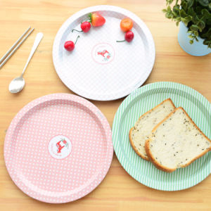 Round Serving Metal Tin Tray for Food and Fruit pictures & photos