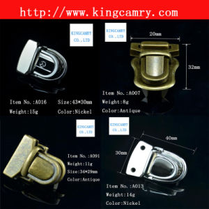 Handbag Lock Bag Lock Turn Lock Press Lock Case Lock Luggage Lock Combination Lock Bag Closure Padlock Alloy Lock Metal Lock Shoe Closure pictures & photos