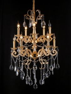 Lobby Chandelier Crystal Cast Aluminum Light (cos9084) pictures & photos