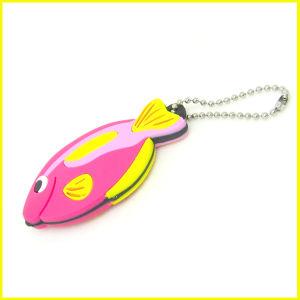 China Soft PVC LED Fish Key Tag with Ball ChainChina Key Tag