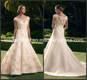 Scoop Princess Bridal Gown Lace Tulle Wedding Dress Cab2180 pictures & photos