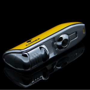 Cohiba Yellow Metal 3 Torch Cigarette Lighter with Punch (ES-EB-136) pictures & photos