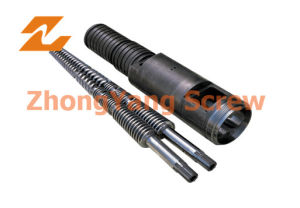 PVC Twin Conical Screw Cylinder Twin Screw Barrel Zytc pictures & photos