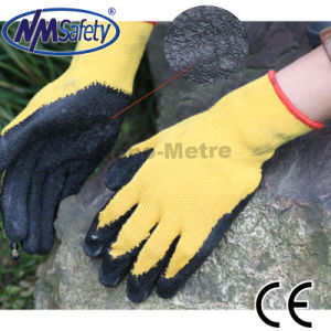 Nmsafety Cheap Orange Coated Latex Safety Work Glove pictures & photos