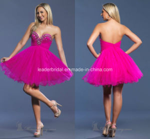 Fuchsia Short Party Gowns Sweetheart Beads Prom Cocktail Homecoming Dresses Z9051 pictures & photos