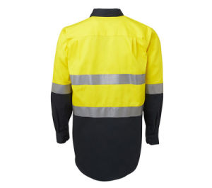 Factory Hot Sale Reflective Safety Cotton Fluorescent Flame Retardant Custom Long Sleeves Shirt pictures & photos
