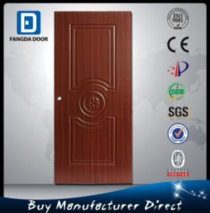 Fangda Simple Teak Wood Door Designs, Same Color But Steel Door pictures & photos