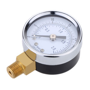 "0-60 Psi Hydraulic Pressure Gauge 1/8"" NPT Air Compressor Back Mount 1.5"" Dial Plate Pressure Diagnostic-Tool Accurate Manometer pictures & photos"