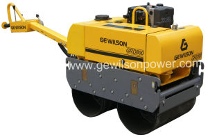 Walk-Behind Vibratory Road Roller with Electric Start 186f Diesel Engine pictures & photos