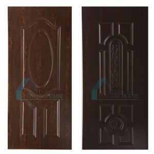MDF HDF Sapeli Melamine Veneer Door Skin pictures & photos
