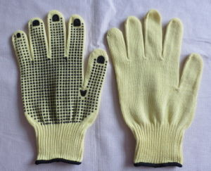 10g Kevlar PVC Dotting Glove pictures & photos