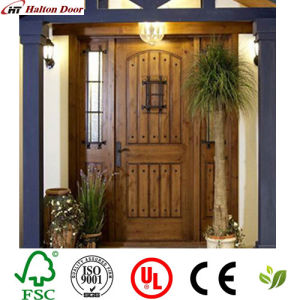 Solid Entrance Wood Door/Red Rich Timber Door/ Wooden Door for Villa pictures & photos