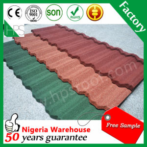 Galvanized Steel Roof Sheet Stone Tile Stone Coated Metal Roof Tile Hot Sale in Africa pictures & photos
