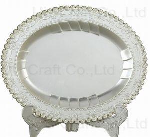 Oval Shaped Souvenir Plaque for Decoration (13-8059-1620)