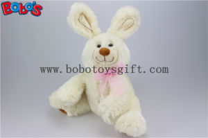 "11""Funny Baby Rabbit Stuffed Animal Toy with Pink Ribbon in Beige Color Bos1148 pictures & photos"