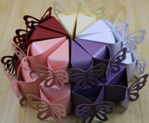 Butterfly-Shaped Paper Bakery Cake Box pictures & photos