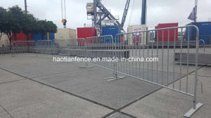 Event Safety Galvanized Flat Feet Crowd Control Barrier pictures & photos