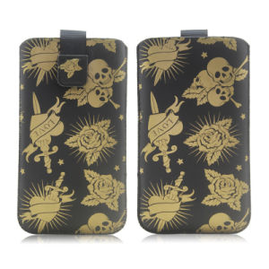 PU Universal Phone Pouch Skull Case for Sony & Microsoft