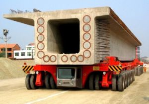 Mobile Tyre Trolley Used in Precast Yard pictures & photos