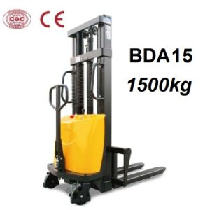 1500kg Semi Electric Manual Stacker with Over Discharge Protection pictures & photos