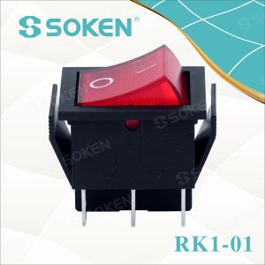Soken 250VAC 16A T100/55 CQC Rocker Switch pictures & photos
